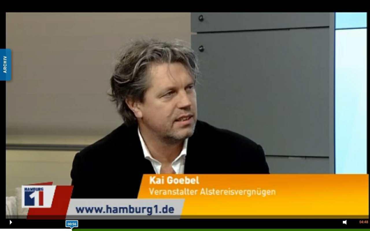 Hamburg1 Frühcafe live Ben Matthews mit Kai Goebel 130212 - Großveranstaltung