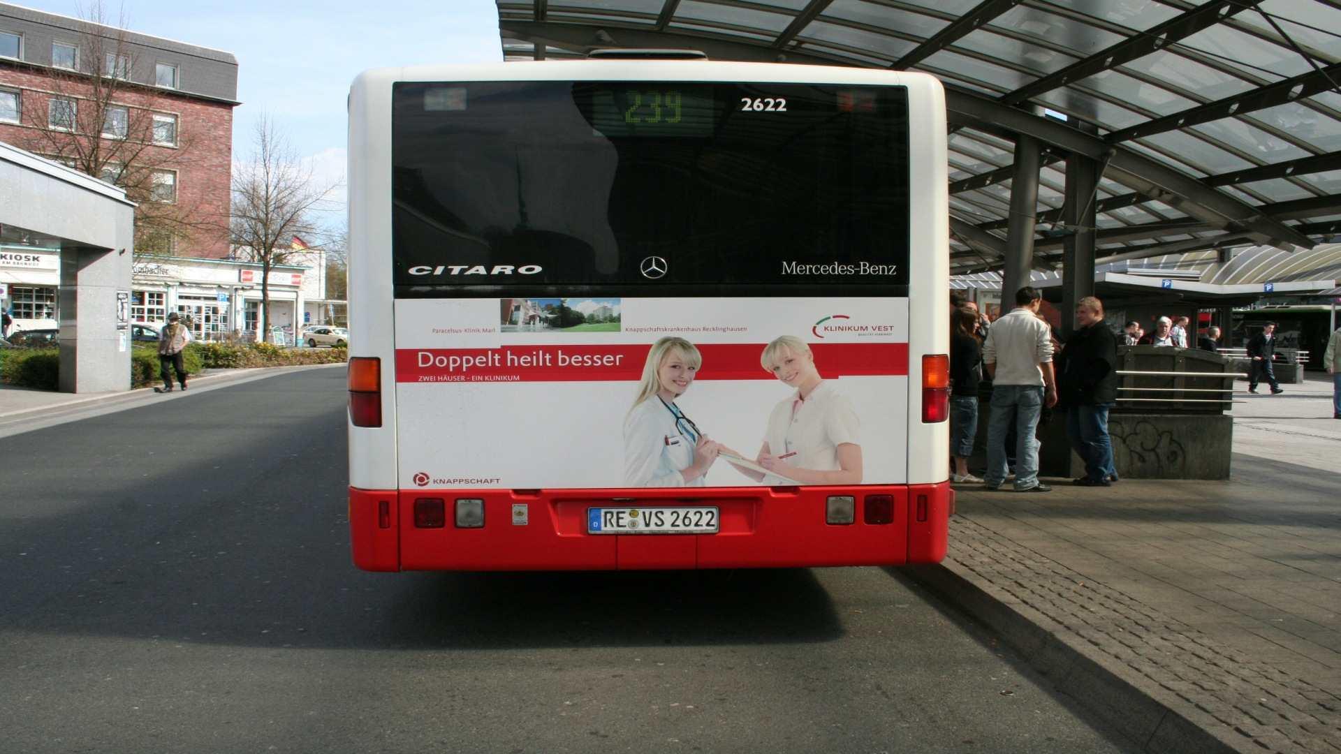 Buswerbung Klinikum Vest - Werbemittel