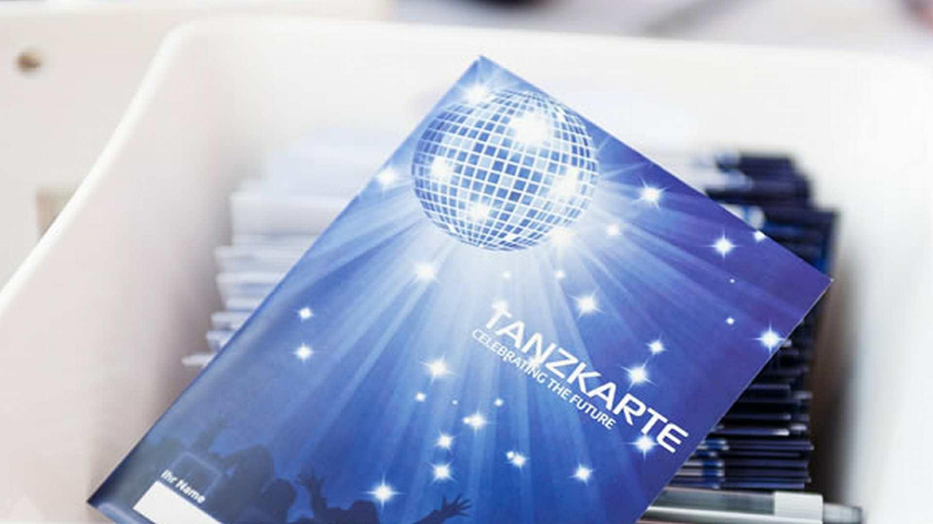 ref 62 Sysback Tanzkarte Feier - Firmenevent